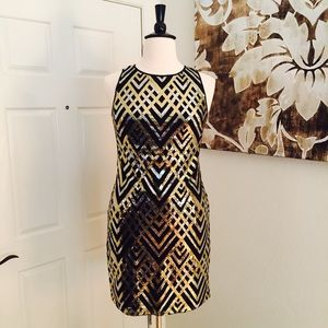 Jessica Howard Gold & Silver Sequin Dress